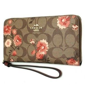 LARGE PHONE WALLET IN SIGNATURE CANVAS F78021